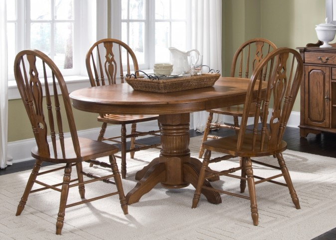 Old World Pedestal Dining Set