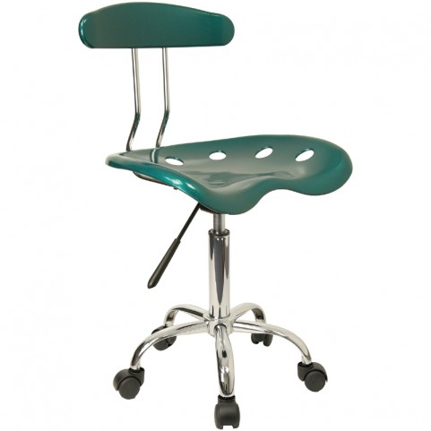 Vibrant Green and Chrome Computer Tractor Seat Task Chair