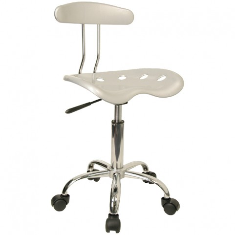 Vibrant Silver and Chrome Computer Tractor Seat Task Chair