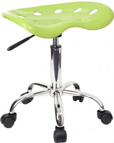 Vibrant Apple Green Tractor Seat Stool