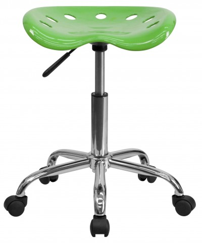 Vibrant Spicy Lime Tractor Seat Stool
