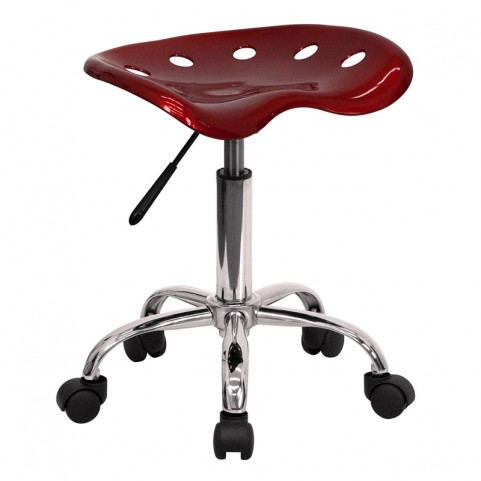 Vibrant Wine Red Tractor Seat Stool