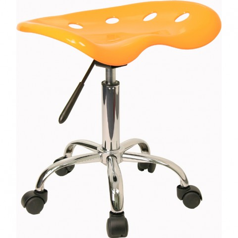 Vibrant Orange-Yellow Tractor Seat Stool