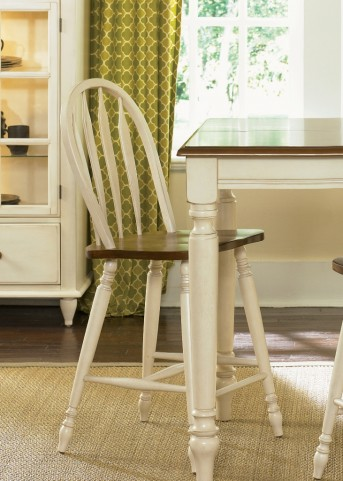 Low Country Sand Windsor Back Barstool Set of 2
