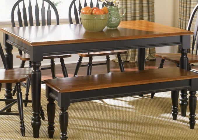 Low Country Black Rectangular Leg Table - Liberty Furniture
