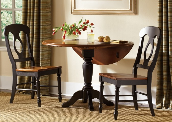 Low Country Black Drop Leaf Dining Set