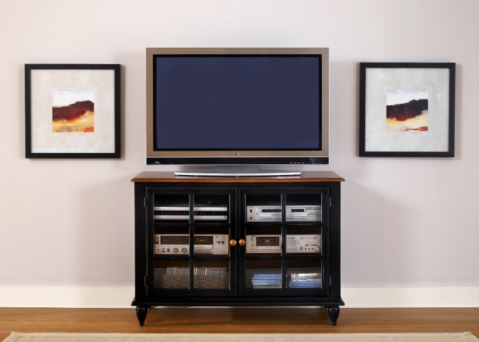Low Country Black TV Stand