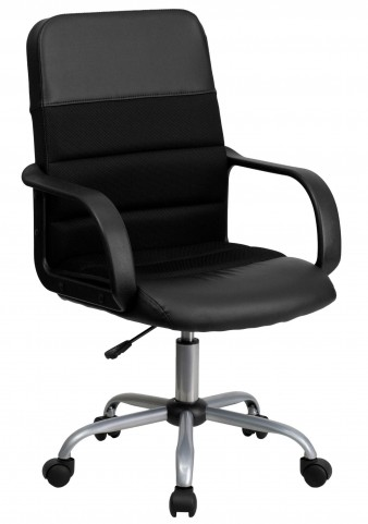 Mid-Back Black & Chair