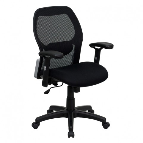 Mid-Back Super Office Chair with Black Fabric Seat
