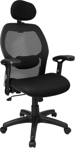 High Back Super Office Chair with Black Fabric Seat