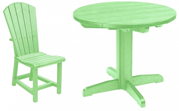 "Generations Lime Green 37"" Round Pedestal Dining Room Set"
