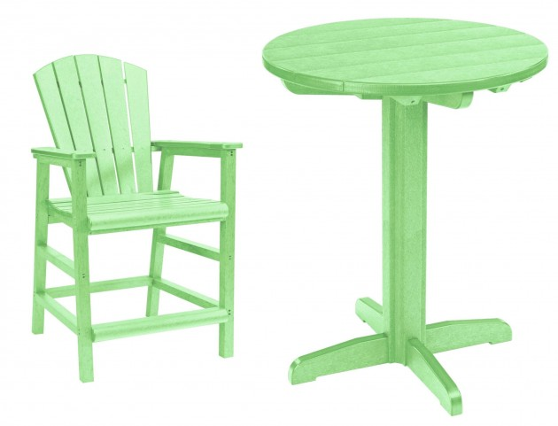"Generations Lime Green 32"" Round Pedestal Pub Set"