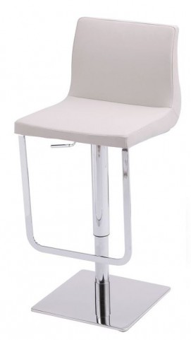 Lift White Hydraulic Barstool