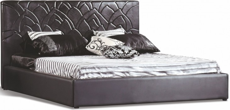 Lily Black King Platform Bed