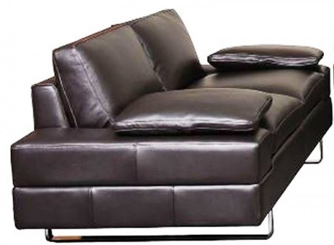 Lindo Black Leather Loveseat