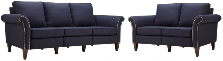 Pippa Midnight Blue Living Room Set