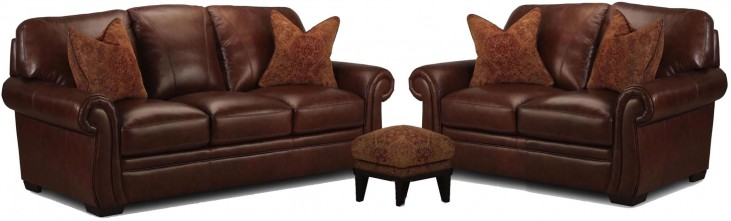 Halston Antique Espresso Living Room Set