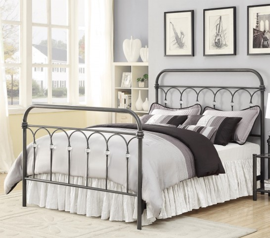 Livingston Crystal Metal Queen Bed