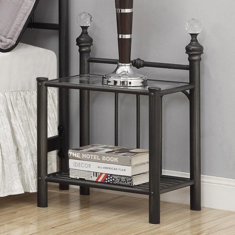 Livingston Crystal Metal Nightstand