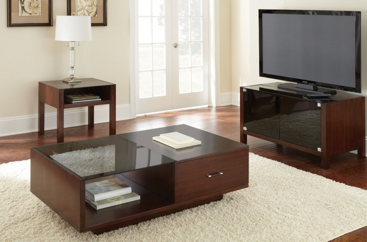 Lamar Dark Cherry Occasional Table Set