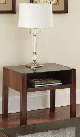 Lamar Dark Cherry End Table
