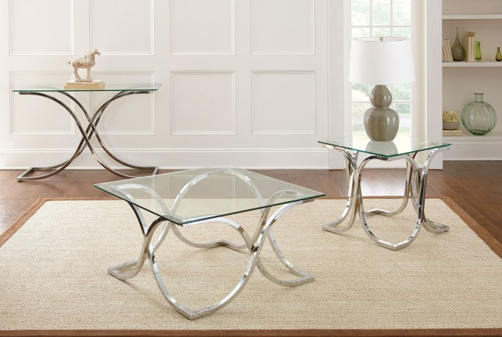 Leonardo Glass Top Occasional Table Set