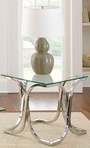 Leonardo Glass Top End Table