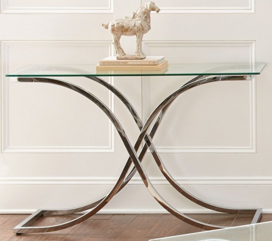 Leonardo Glass Top Sofa Table