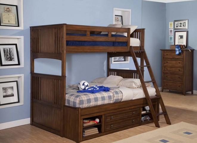 Logan Spice Youth Storage Bunk Bedroom Set
