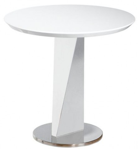 Lola White High Gloss End Table