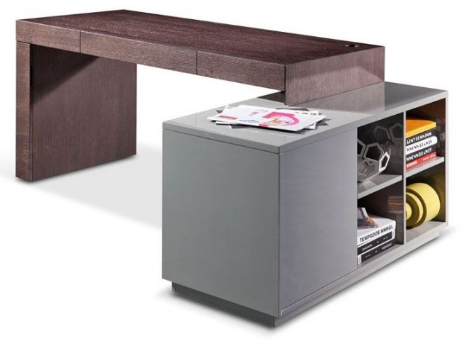Lorax Brown Oak Computer Desk