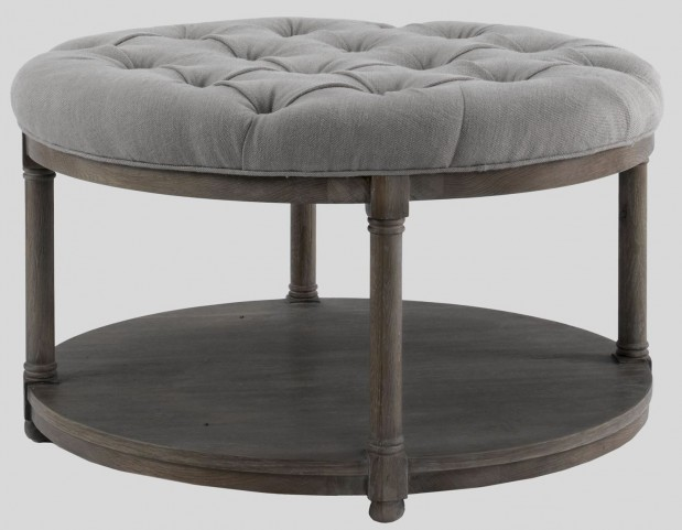 Lorraine Round Upholstered Cocktail Table