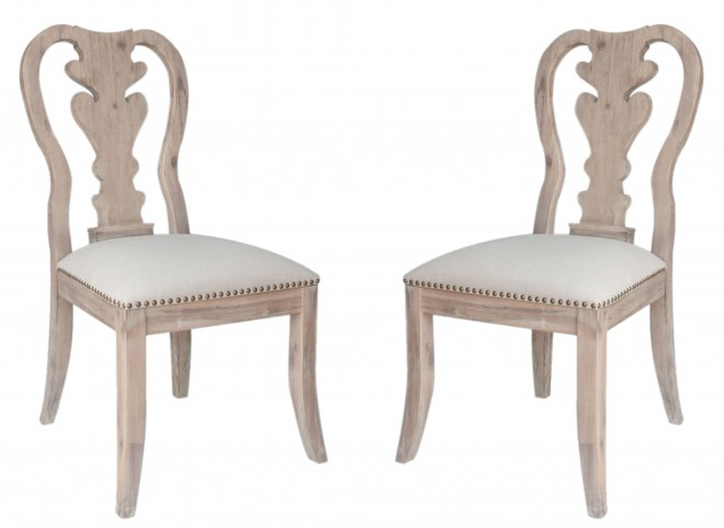 Lotus Stone Wash Dining Chair Set of 2