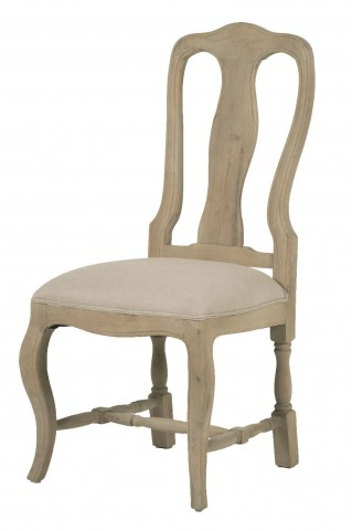 Louis XV Smoke Gray Dining Chair Set of 2