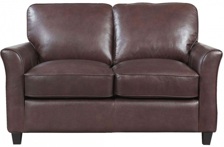 Beverly Brown Loveseat