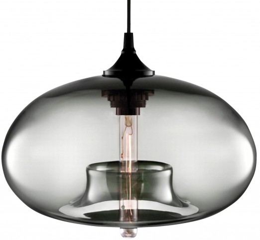Torus Round Amber Pendant Lamp