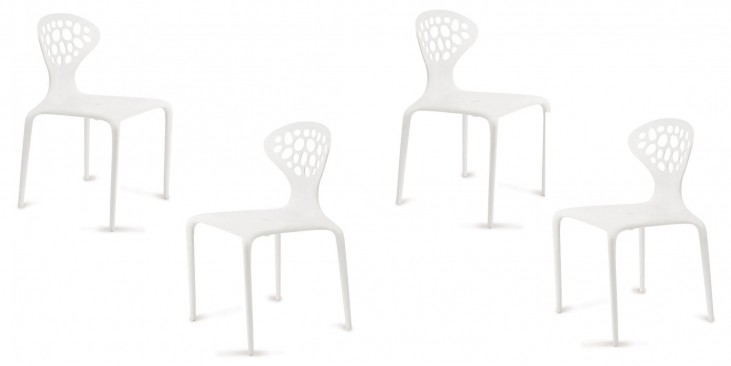 Euro Home Lucy White Chair Set of 4