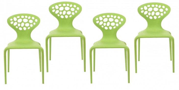 Euro Home Lucy Green Chair Set of 4