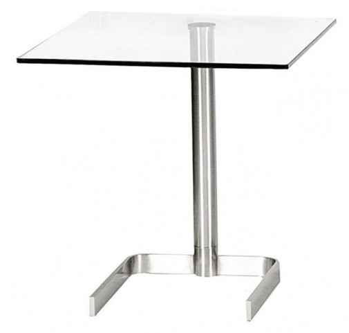 Luiza Square Glass End Table