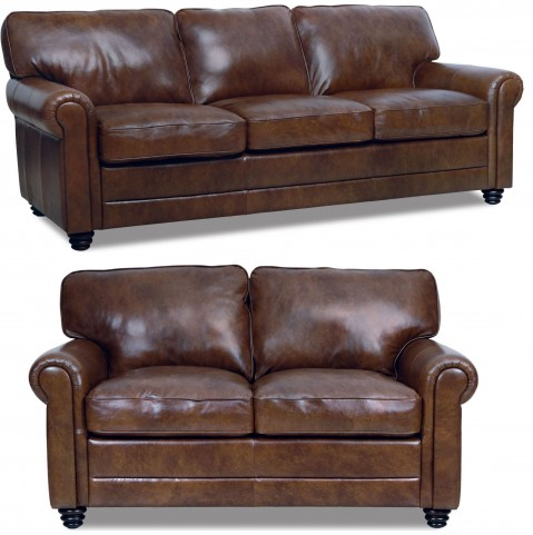 Andrew Italian Leather Living Room Set