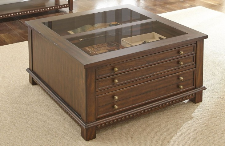 Livonia Brown Cherry Occasional Table