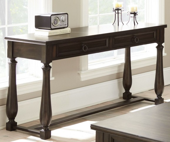 Leona Charcoal Sofa Table