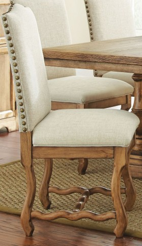 Plymouth Oiled Oak Side Chair Set of 2