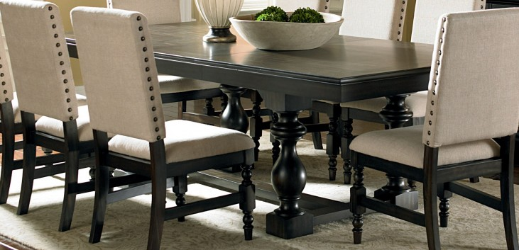 Leona Deep Charcoal Extendable Rectangular Dining Table