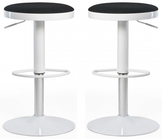 Euro Home Carrie Black Bar Stool Set of 2