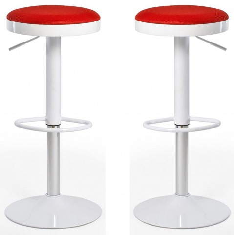 Euro Home Carrie Red Bar Stool Set of 2
