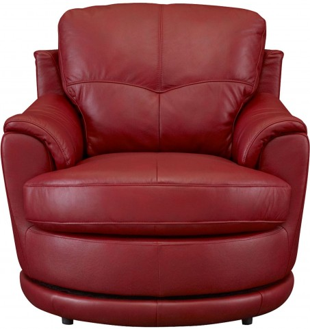 Globe Red Swivel Chair