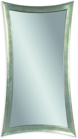 Hour Silver Leaf Glass Wall Mirror
