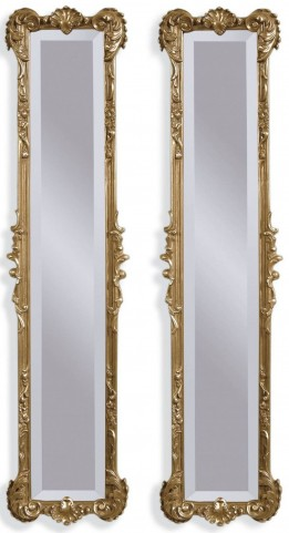 Helena 2 Panel Gold Leaf Mirrors