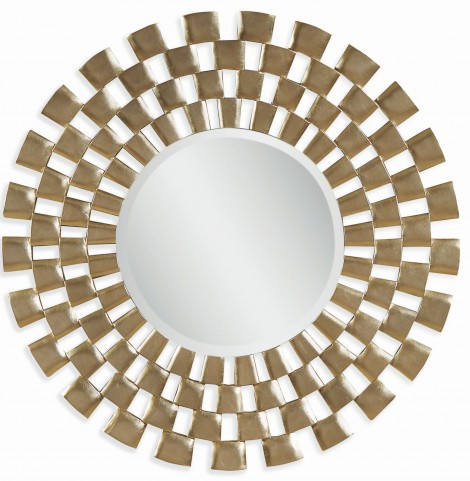 Chequers Silver Leaf Wall Mirror